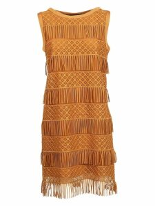 Alberta Ferretti Fringed Dress