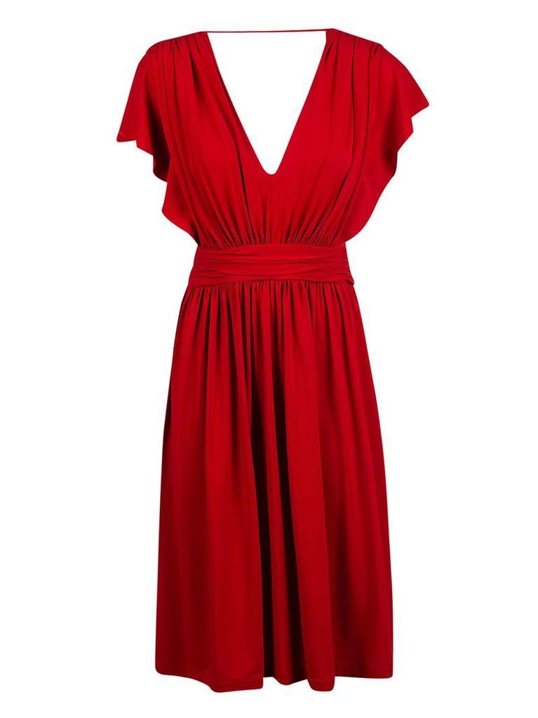 Alberta Ferretti V-neck Dress