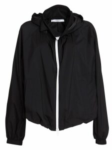 Givenchy Technical Fabric Windbreaker In Black