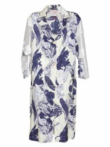 Stefano Mortari Floral Print Trench Coat In Multicolor