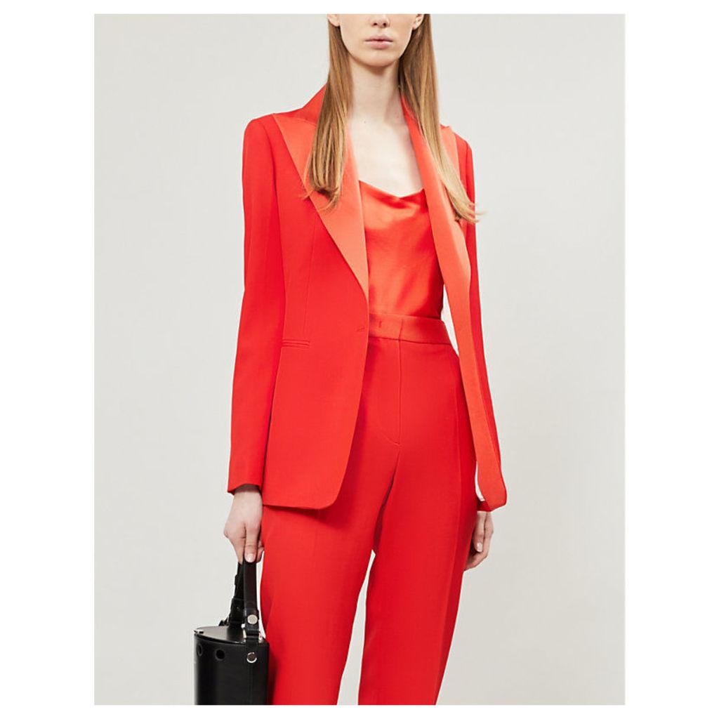 Sten V-neck silk-satin blouse