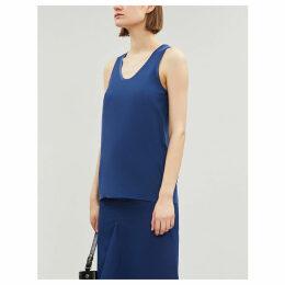 Rosie satin-trim silk-toile blouse