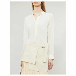 Mara band-collar silk-toile blouse