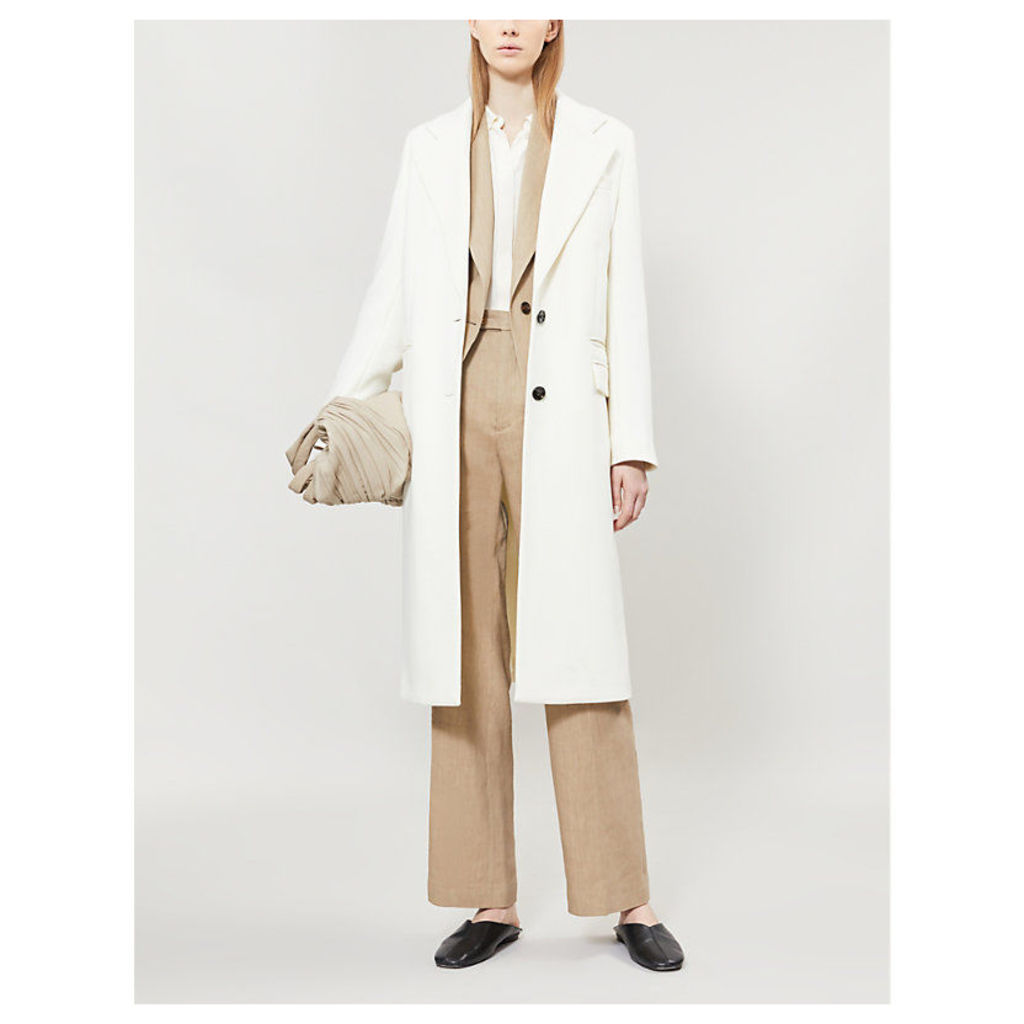 Magnus single-breasted wool-blend coat