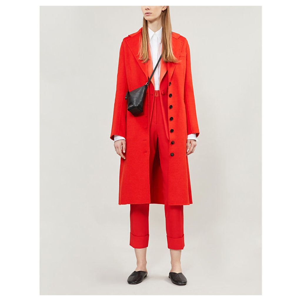 New marline feather double cashmere coat