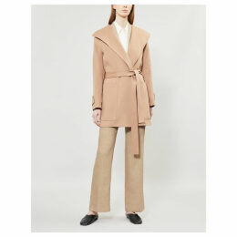 Lista wrap-over wool-blend coat