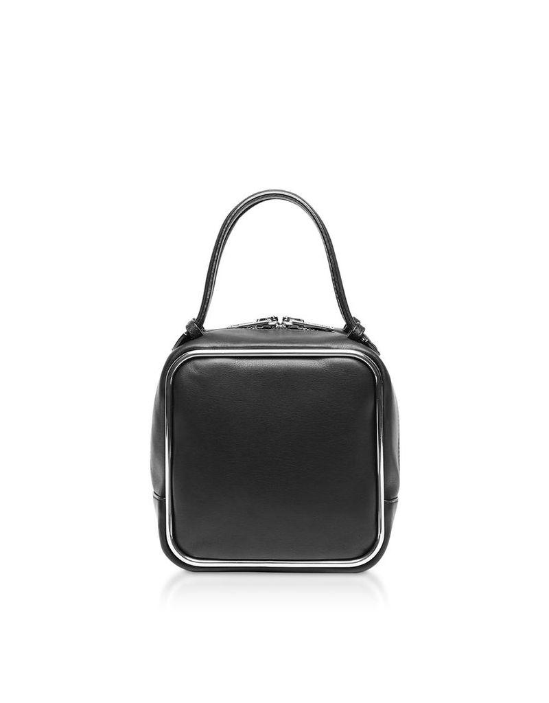 Alexander Wang Designer Handbags, Black Supple Leather Halo Top Handle Satchel Bag
