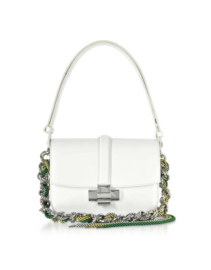 N°21 Designer Handbags, White Leather Lolita Bag
