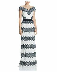 Tadashi Shoji Pleated Lace Gown