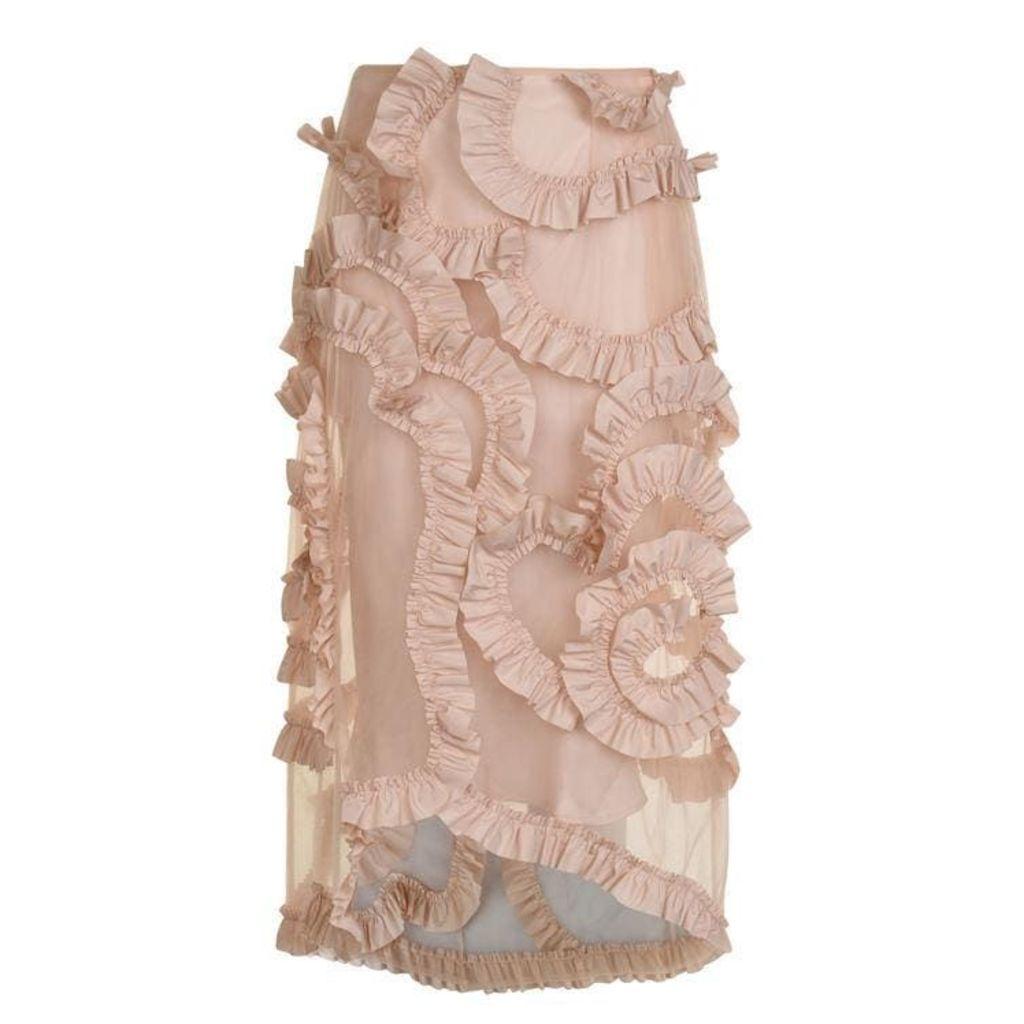 4 MONCLER SIMONE ROCHA Ruffle Skirt