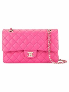 Chanel Pre-Owned double flap chain shoulder bag - Pink