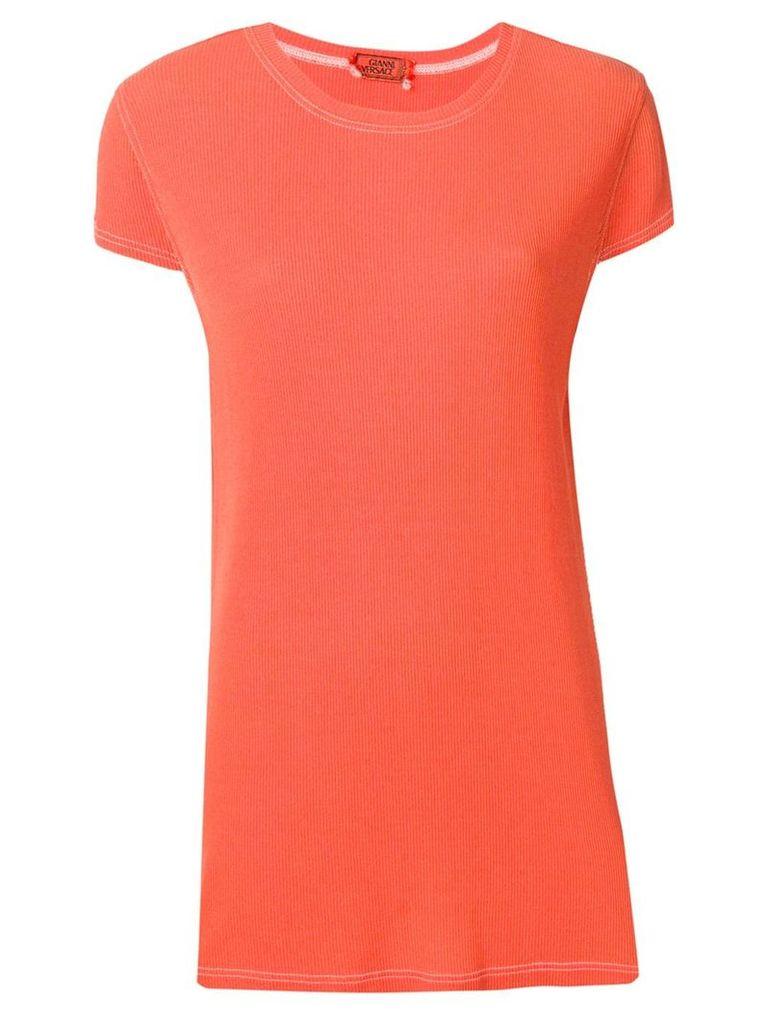Versace Vintage ribbed T-shirt - Orange