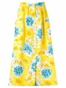 Céline Pre-Owned 1970's floral print skirt - Yellow