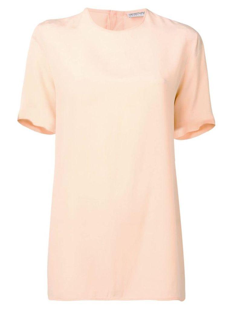 Giorgio Armani Vintage 1980's shortsleeved blouse - Orange