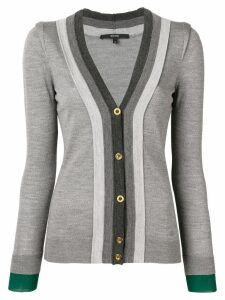 GUCCI PRE-OWNED 1990's fitted cardigan - Grey