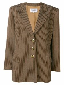 Gianfranco Ferre Pre-Owned 1980's striped blazer - Brown
