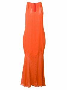A.N.G.E.L.O. Vintage Cult 1990's fishtail hem dress - Orange