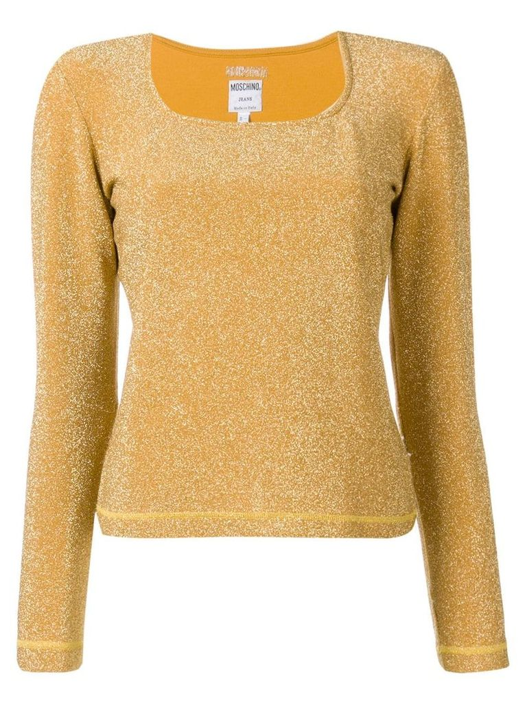 Moschino Vintage 2000's square neck top - Yellow