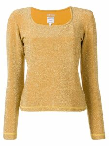 Moschino Pre-Owned 2000's square neck top - Yellow