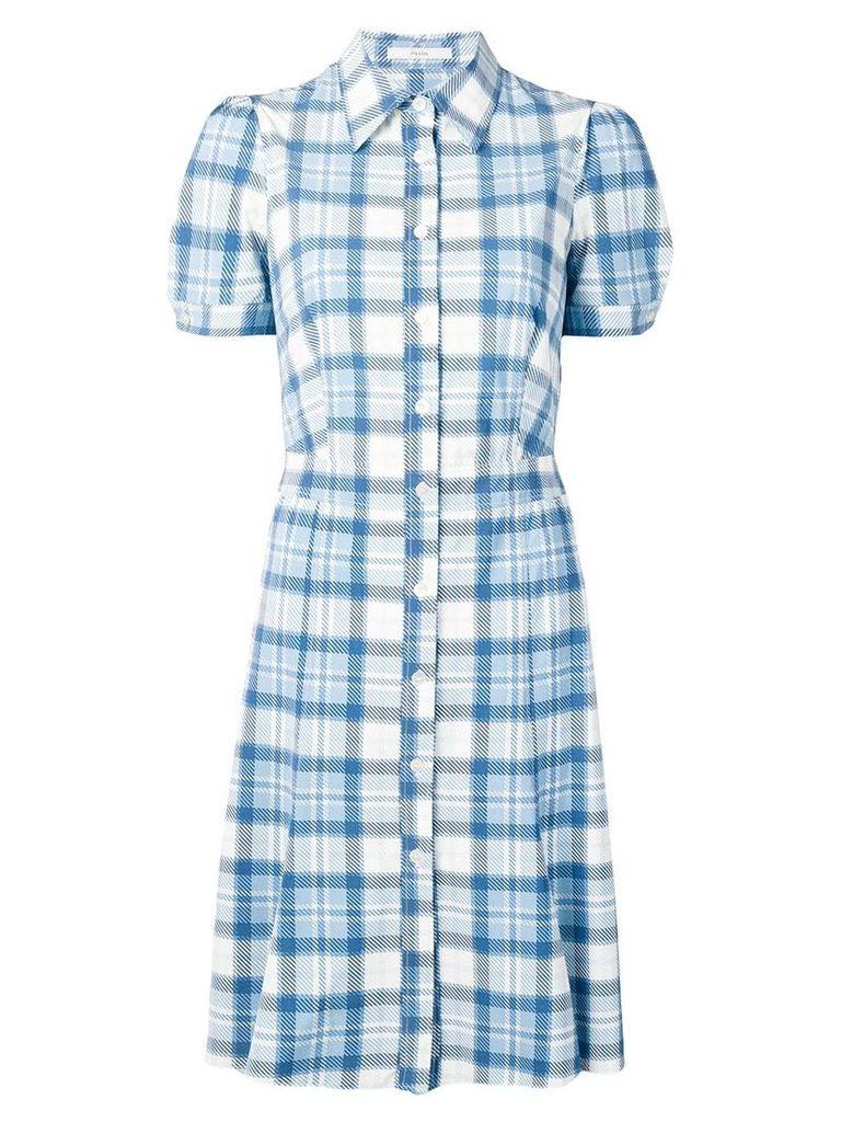 Prada Vintage 2000's checked flared dress - Blue