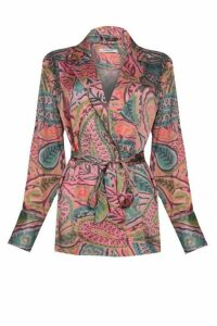 Womens **Paisley Belted Blazer By Glamorous - Multi, Multi