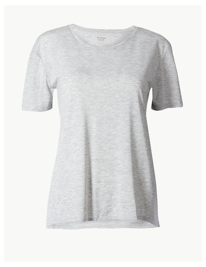 M&S Collection Round Neck Relaxed Fit T-Shirt