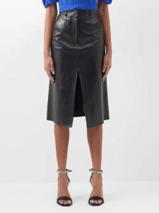 Chloé - Smocked Panel Crepe Midi Skirt - Womens - Light Grey