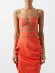 Borgo De Nor - Raquel Floral Print Tie Waist Dress - Womens - Red Multi