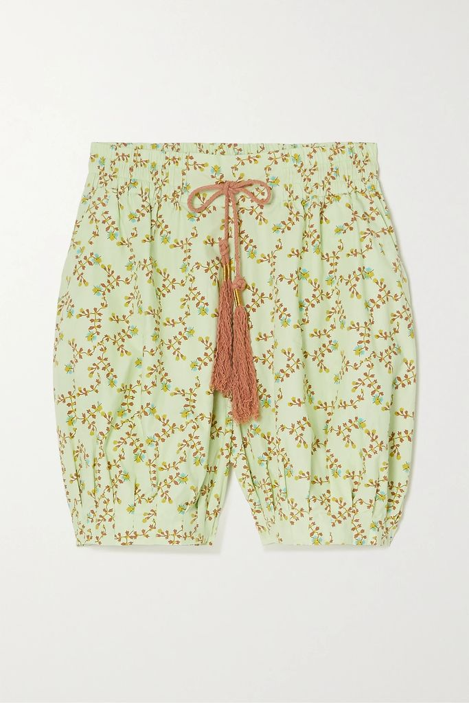 Attico - Feather-trimmed Beaded Satin Pouch - Pink