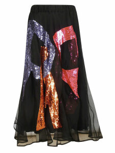 Parosh Logo Sequined Skirt