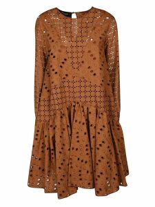 Rochas Perforated Midi Dress