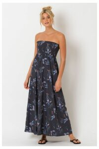 Womens Animal Blue Lulu Woven Maxi Dress -  Blue