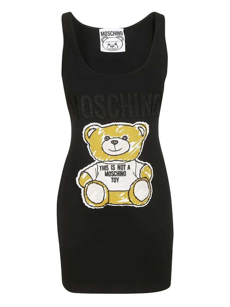 Moschino Bear-print Sleeveless Dress
