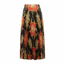 Gucci Printed Silk Midi Skirt