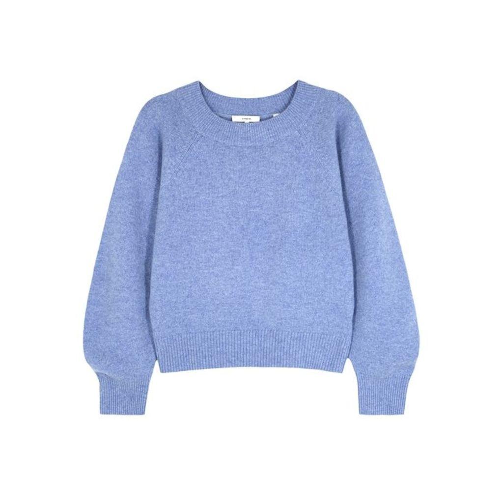 Vince Blue Mélange Wool-blend Jumper