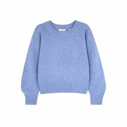 Vince Blue Mélange Wool-blend Jumper