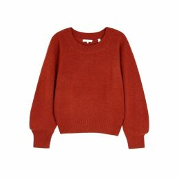 Vince Rust Wool-blend Jumper