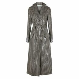 Off-White Gingham PVC Trench Coat