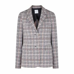 Rosetta Getty Checked Jersey Blazer