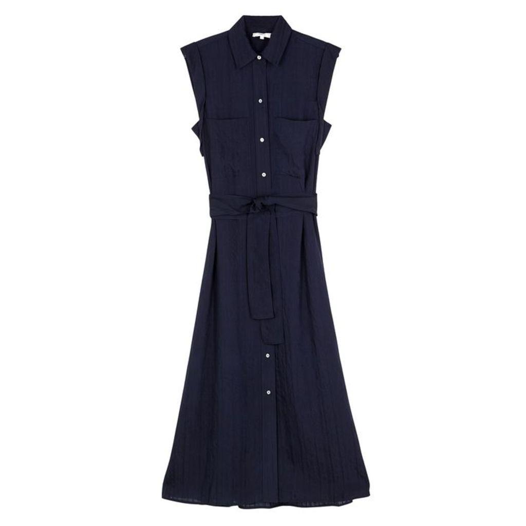 Vince Navy Rayon-blend Shirt Dress