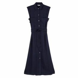 Vince Navy Rayon-blend Shirt Dress