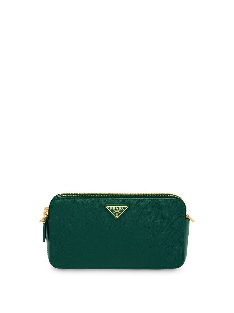 Prada Saffiano leather mini shoulder bag - Green