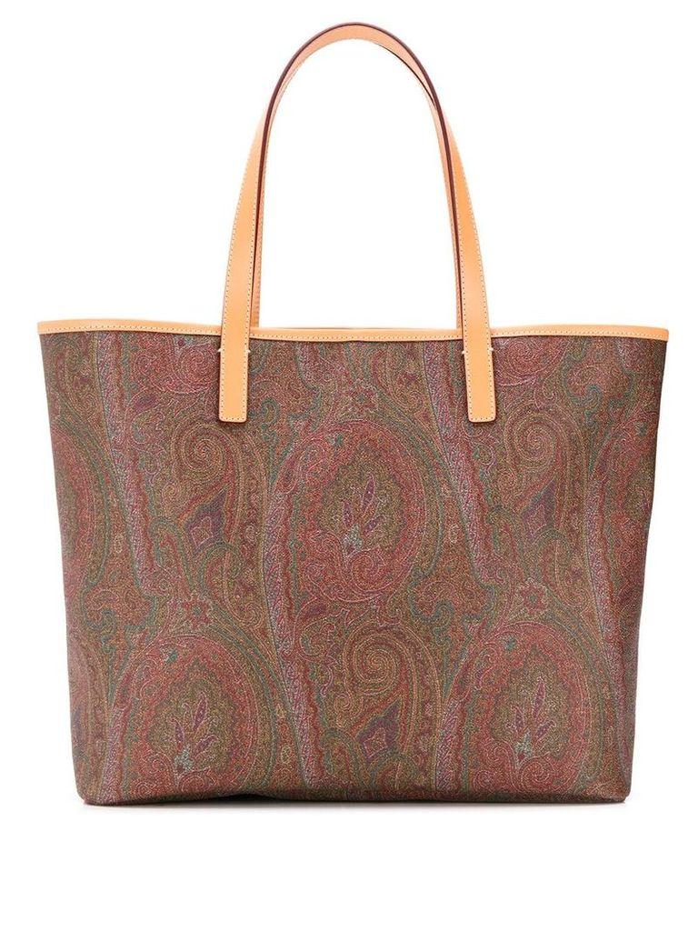 Etro paisley shopper tote - Brown