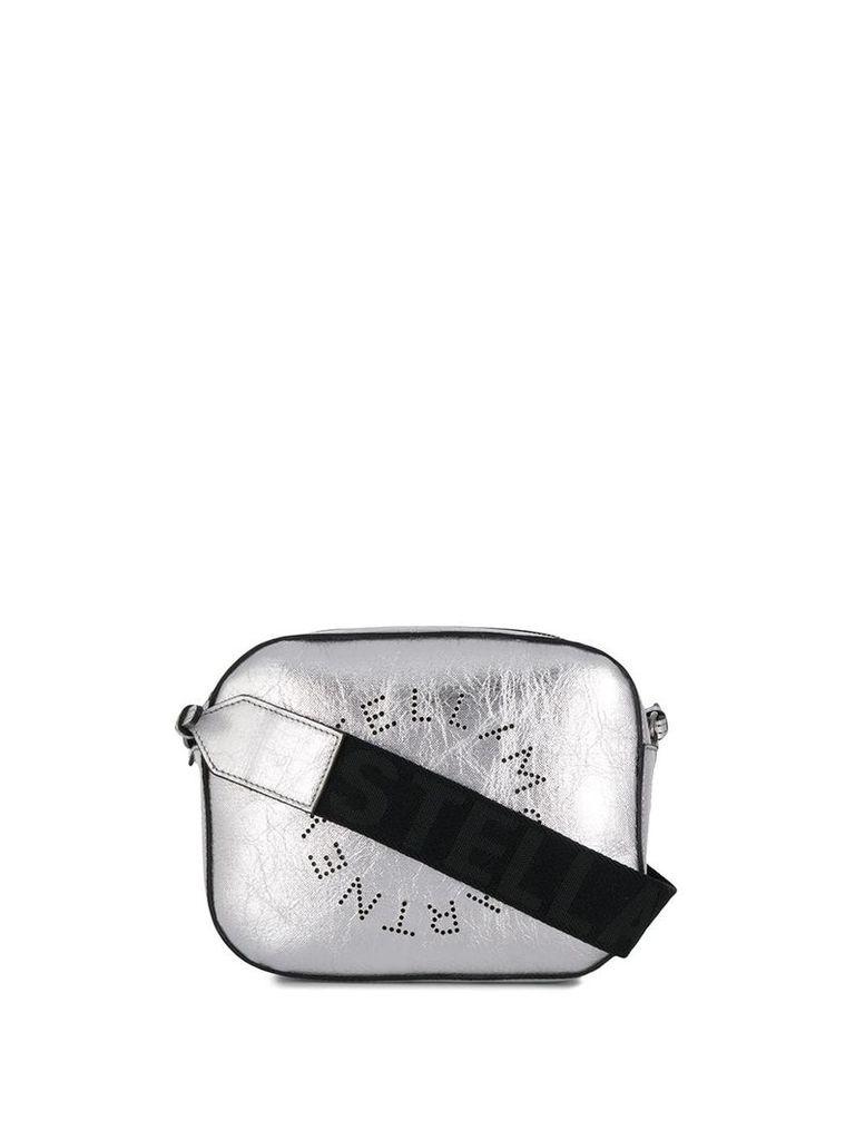 Stella McCartney logo camera mini bag - Silver
