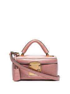 Stalvey pink lizard skin box bag