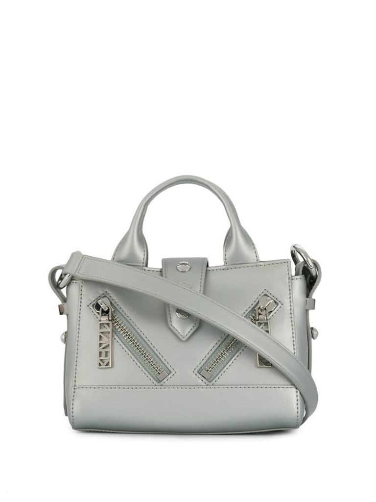 Kenzo mini zipped shoulder bag - Silver