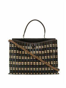 Carmina Campus Demie braided large handbag - Brown
