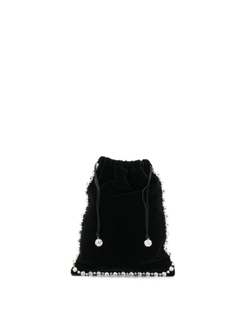 Ca & Lou drawstring clutch bag - Black