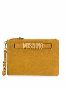 Moschino glitter clutch bag - Gold