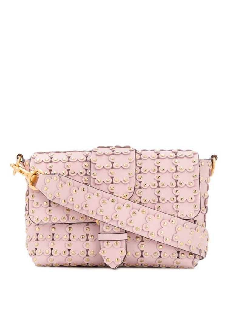 Red Valentino RED(V) flower appliqué shoulder bag - Pink